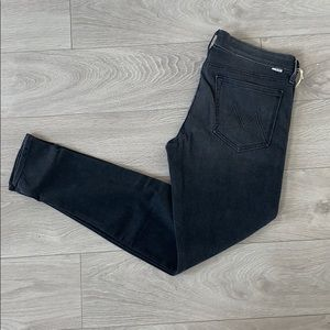 NWT mother the looked distress black jeans